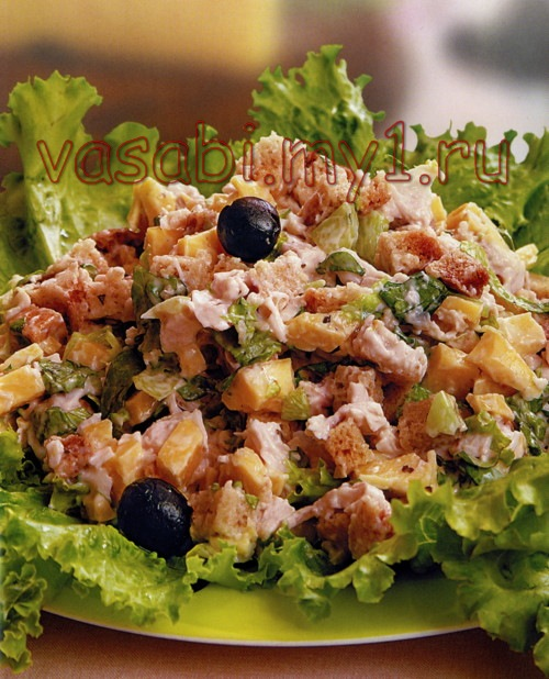 Салат цезарь сырный салаты рецепты с